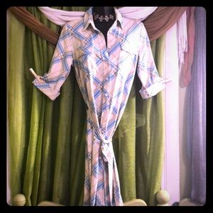 J.McLAUGHLIN Button-Down Sheath Dress-Size Small